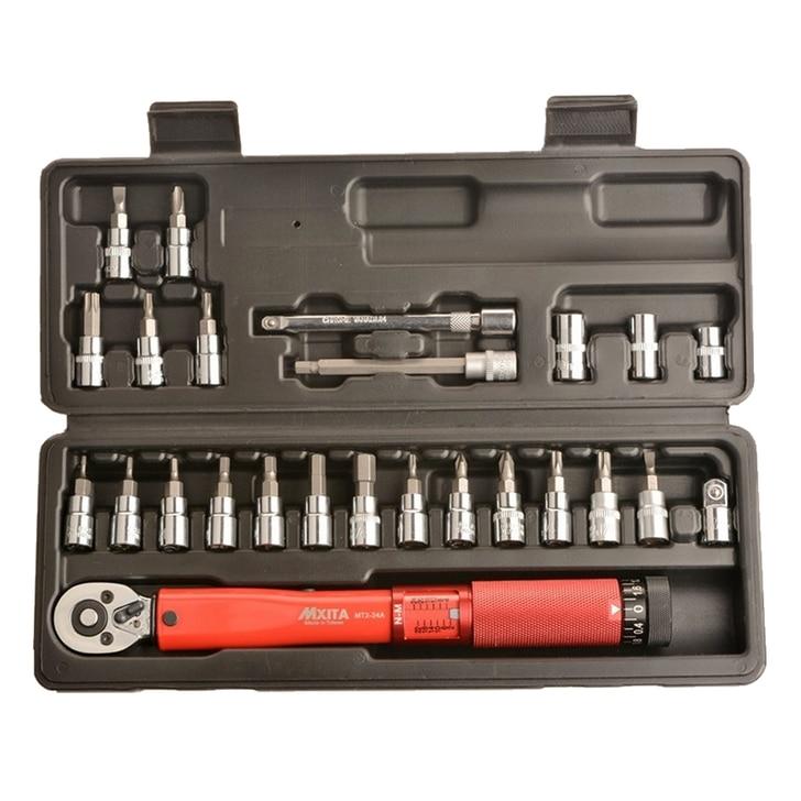 Набор инструментов для ремонта велосипедов MXITA 1/2 дюйма, 1-25 нм, Регулируемый динамометрический ключ