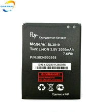 5PCS BL3819 2000mAh Original High quality battery For FLY IQ4514 Quad EVO Mobile phone+free shipping