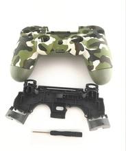 PS4 Pro 4.0 coque avant arrière boîtier housse cadre intérieur pour PS4 Pro DualShock 4 Pro V2 contrôleur JDS040 JDM 040 Gen 2 camouflage