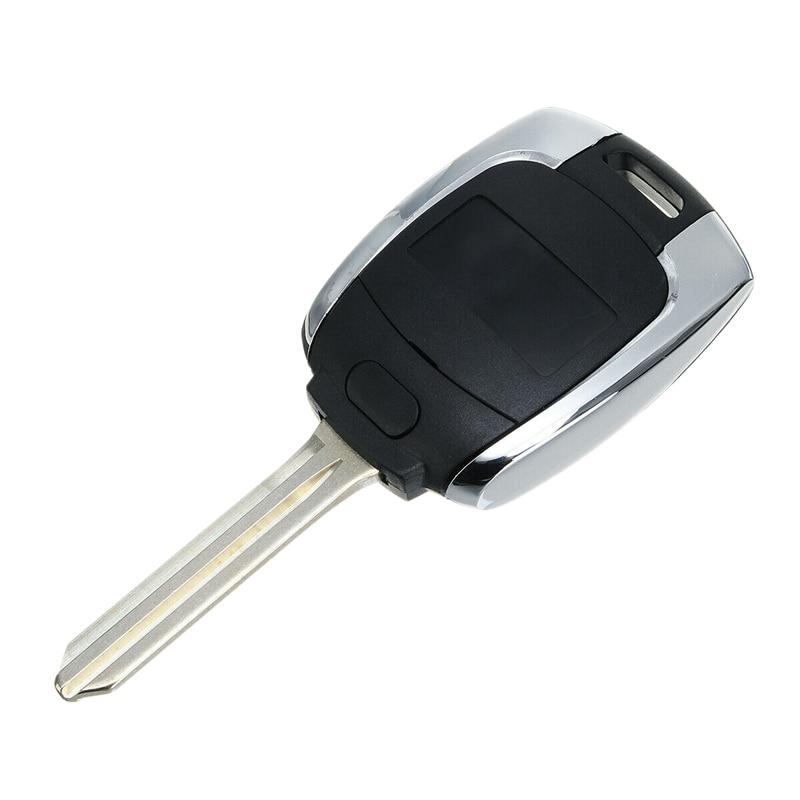 Funda de llave de control remoto para coche funda Fob W/hoja sin cortar para Ssangyong Actyon Kyron Rexton