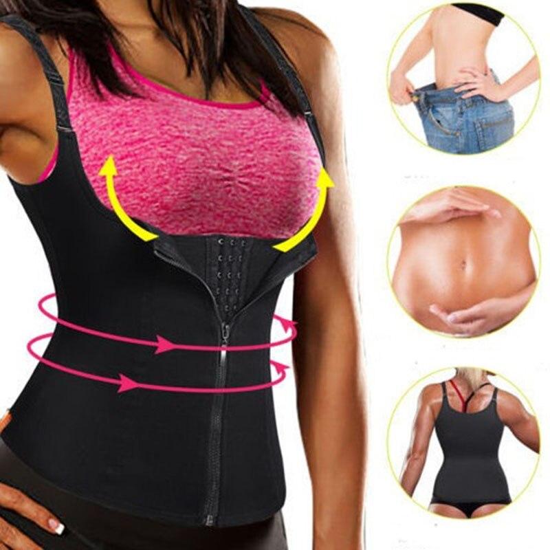 FDBRO Taille Trimmer Drücken Gürtel Frauen Bauch Unterstützung Gürtel Sport Korsett Gürtel Zipper Weste Dünne Gewicht Trainer Körper Shaper