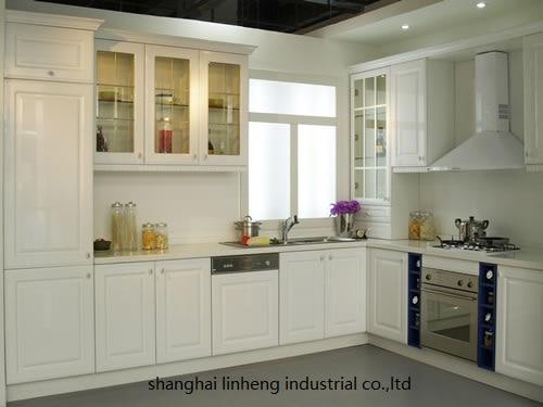PVC/vinyl kitchen cabinet(LH-PV005) pvc vinyl kitchen cabinet lh pv032