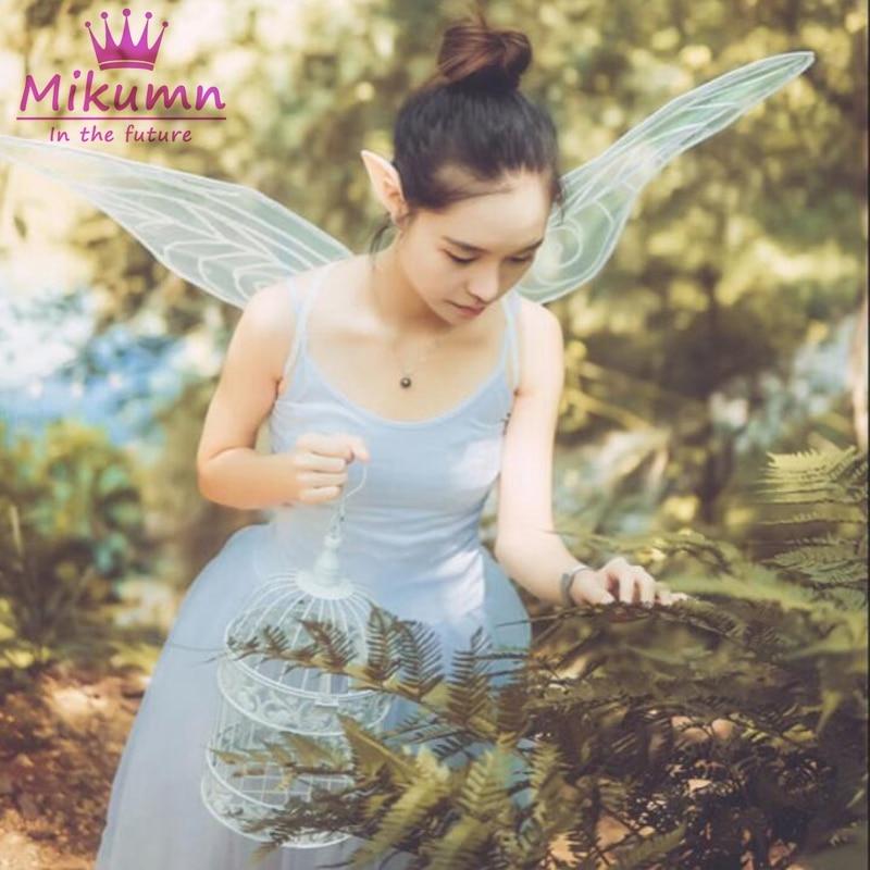 Fada anjo asas de borboleta para as mulheres festa fantasia vestido traje natal halloween cosplay/fotografia/desempenho acessórios