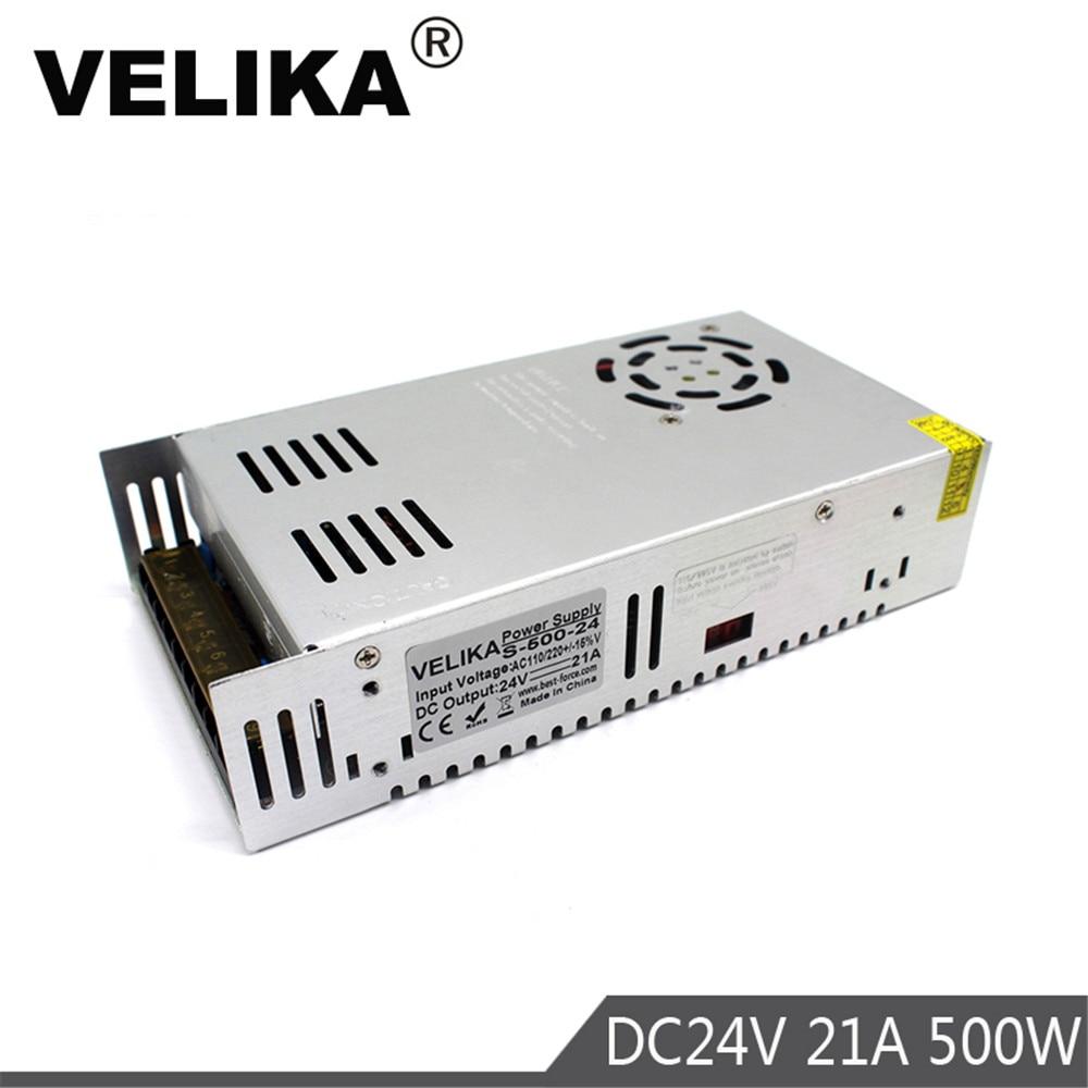 Single Output 12V 24V 36V 48V 500W Lighting Transformers 110V 220V AC to DC Power Supply Switch  For Led Strip Light CCTV Print