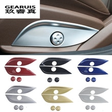 Car Styling For Mercedes Benz GLC C E Class W205 W213 X253 Accessories Seat Adjuster Button Switch Decoration Cover Sticker Trim