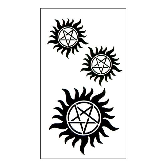 Tatuaje temporal a prueba de agua pegatina en arte corporal tatuaje sol estrella dedo transferencia de agua flash tatuaje falso para chica hombres