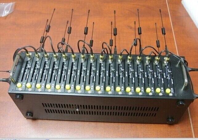 Buena calidad 3g 16 puertos modem pool sim5320e WCDMA 3g modem HSDPA para el cambio de sms a granel imei módem GSM