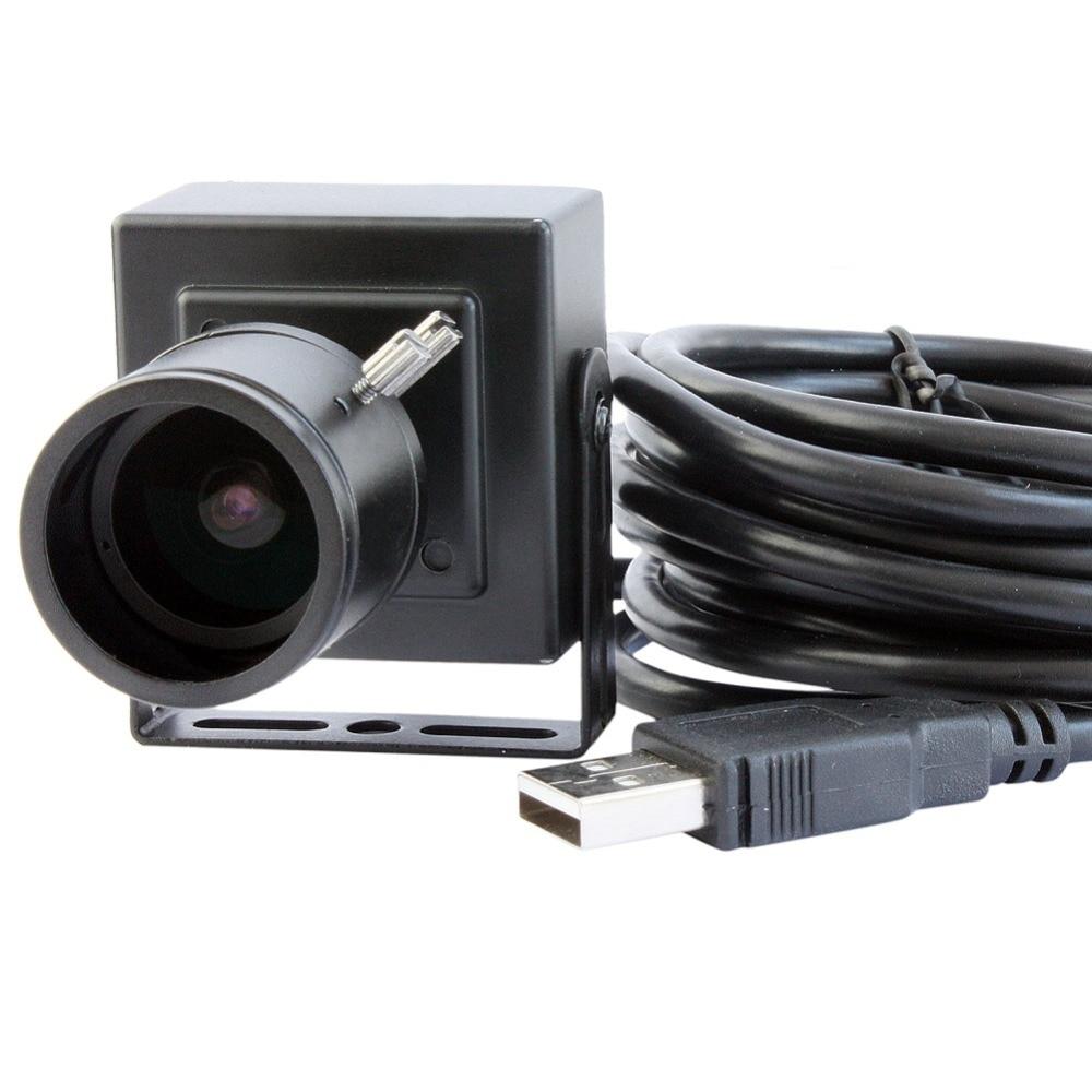 HD Mini Case Monochrome Black White 2.8-12mm varifocal M12 webcam Aptina AR0130 OTG UVC usb camera for android linux windows mac