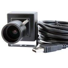 Mini coque HD Monochrome noir blanc   2.8 à 12mm varifocal M12 webcam Aptina AR0130 OTG UVC, caméra usb pour android linux mac