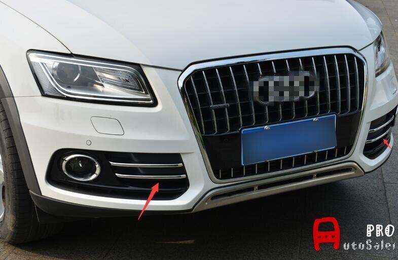 Cromo espejo y Matt frente niebla embellecedor de cubierta de lámpara de luz apto para Audi Q5 2009-2011 estilo de coche