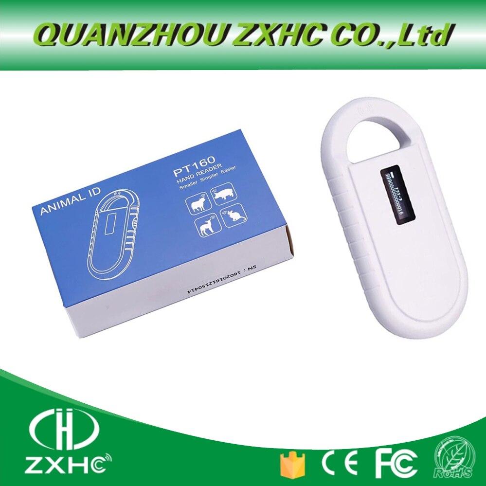 منتج جديد محمول شاشة OLED تتفاعل ISO11784/11785 134.2Khz FDX-B قارئ رقاقة الماسح الضوئي للكلب أو القط