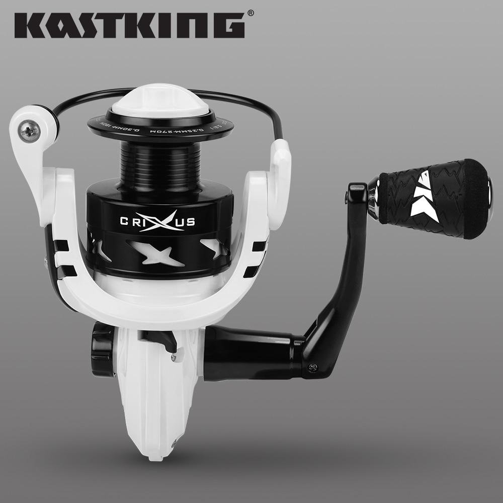 KastKing Crixus Spinning Fishing Reel Graphite Body Carbon Fiber Drag Washer 9kg Max Darg 5.2:1/4.5:1 Gear Ratio Fishing Coil