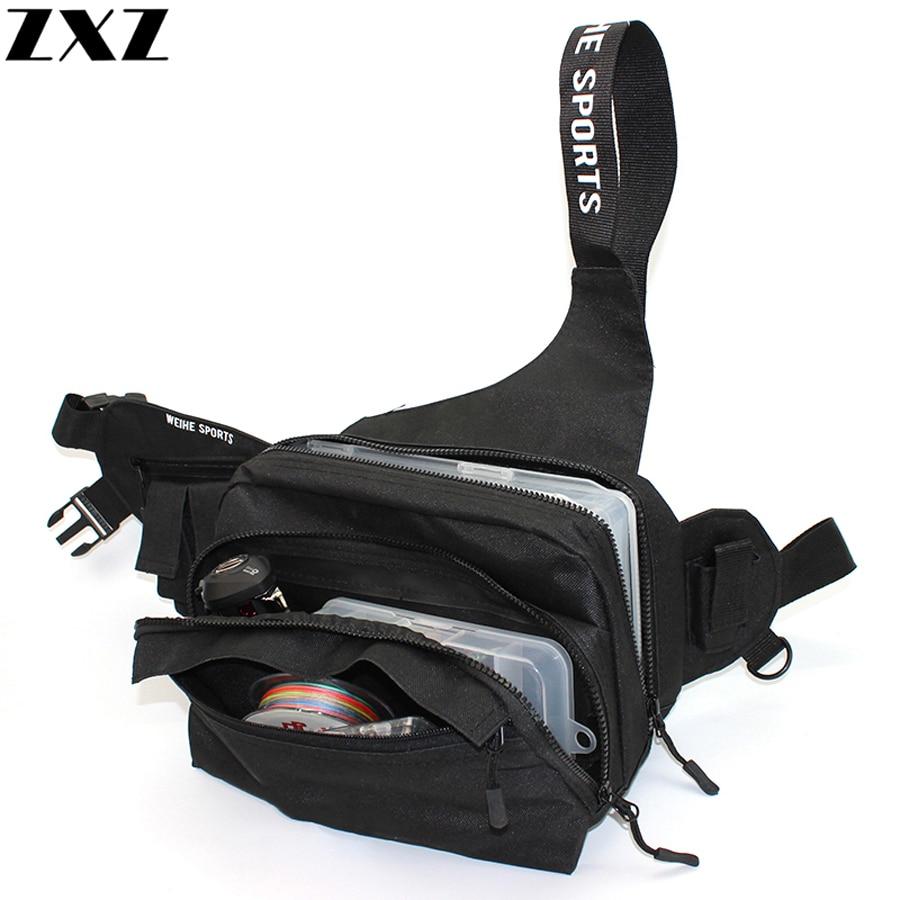 Bolsa de pesca de 3 capas para acampar al aire libre, mochila ajustable para hombre, bolsas de escalada, bolsas de pesca con mosca, mochila Diagonal para senderismo, 30*17cm