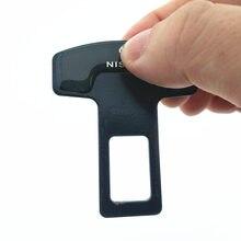 2pcs/lot quality zinc alloy car seat belt clip safety belt plug For Nissan GTR TEANA Qashqai SUNNY Altima Maxima Murano 350Z