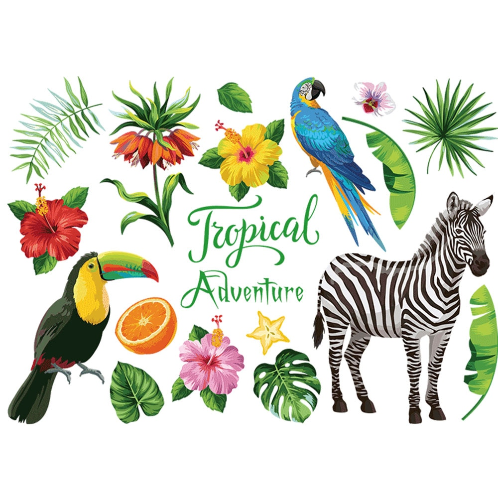 PVC etiqueta de la pared arte Mural pegatinas pared Animal creativo cebra Wallpaper