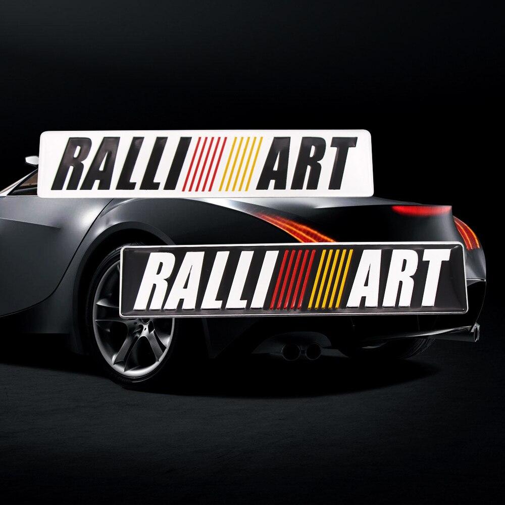 Liga de alumínio Etiqueta Do Carro Do Emblema Do Emblema Do Decalque Para Mitsubishi Lancer ralliart 9 10 L200 3 Asx Outlander Pajero Sport Car styling