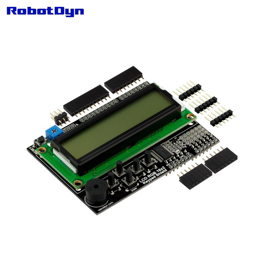 ЖК RGB 16x2 + клавиатура + щит зуммера для Ar