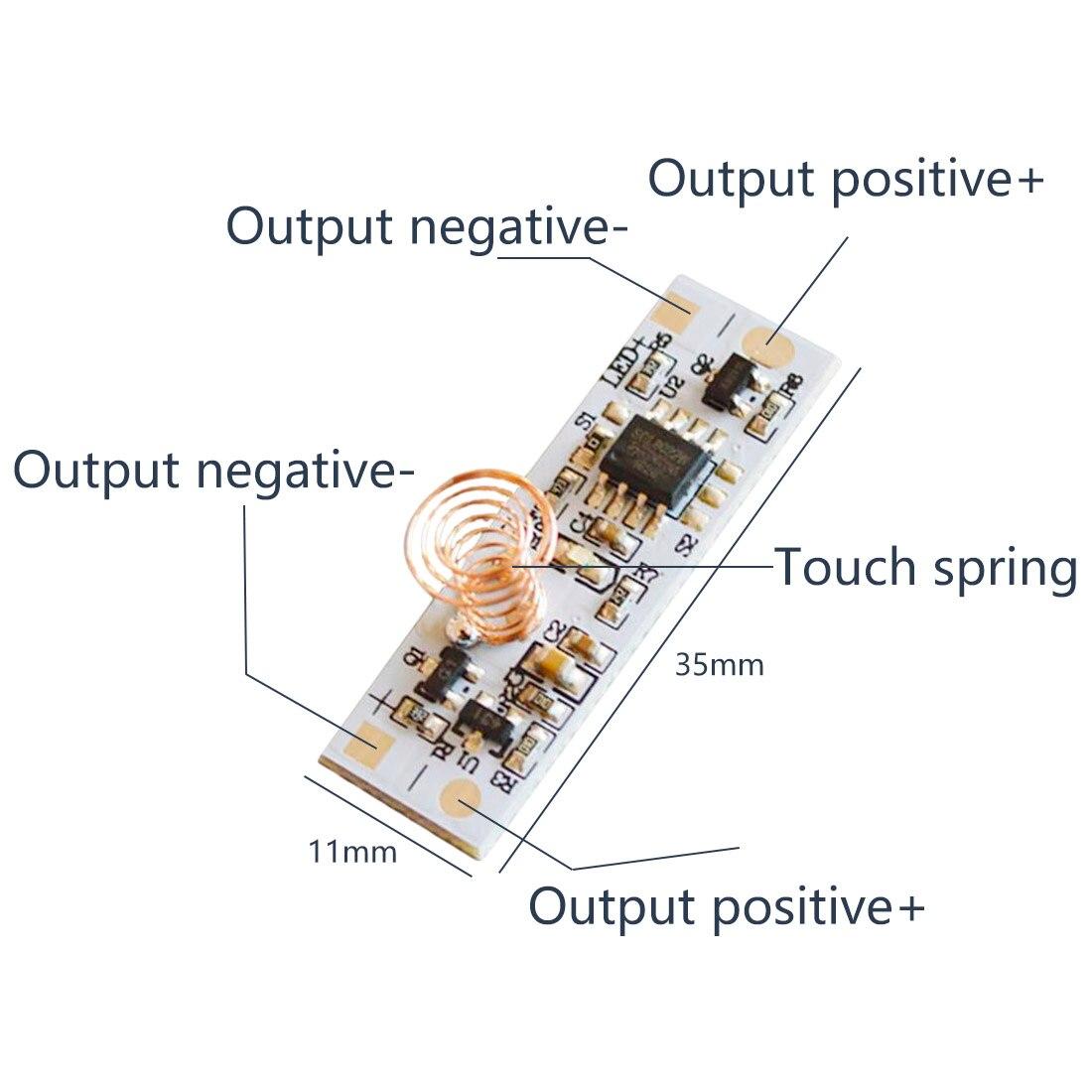 Interruptor de Control de atenuador LED-24 V CC 3 36W 3A interruptor de Sensor táctil capacitivo interruptor de resorte de la bobina para la tira de luz LED de hogar inteligente