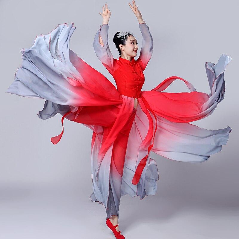 زي Hanfu الصيني العتيق ، رقص كلاسيكي ، للنساء ، ملابس عرقية أنيقة وجديدة