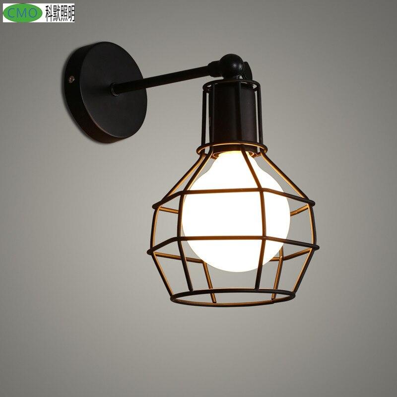Lámpara De Pared LED Vintage para dormitorio, candelabro De Pared De hierro,...