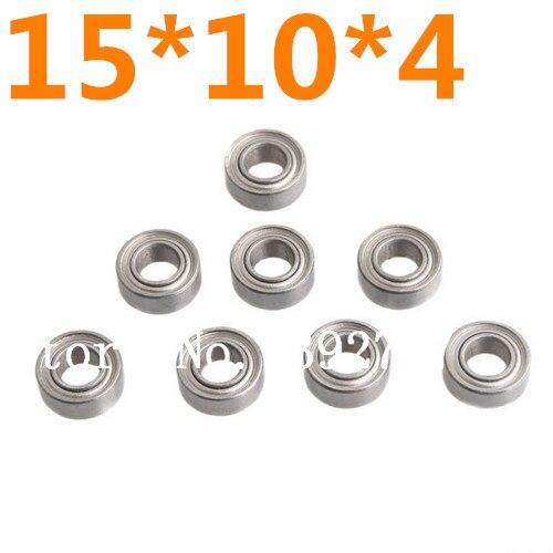 8 unids/lote rodamiento de bolas 15*10*4mm 8 P HSP 02138 Himoto RC 31043 1/10th camión monstruo de coche 4WD On/Off-Road