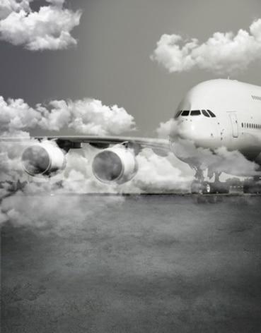 Tela de vinilo cielo nube aeropuerto avión blanco y negro fondos de estudio fotográfico para niños telones de fondo para retratos fotográficos props