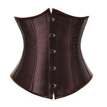 corset underbust plus size sexy bodyshaper costumes bustiers corsets cincher ladies burlesque corselet red black blue pink brown