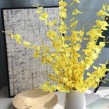 100cm piękny różowy biały żółty Jasmine sztuczny kwiat jedwabna orchidea dekoracja do domu ślub walentynki wystrój