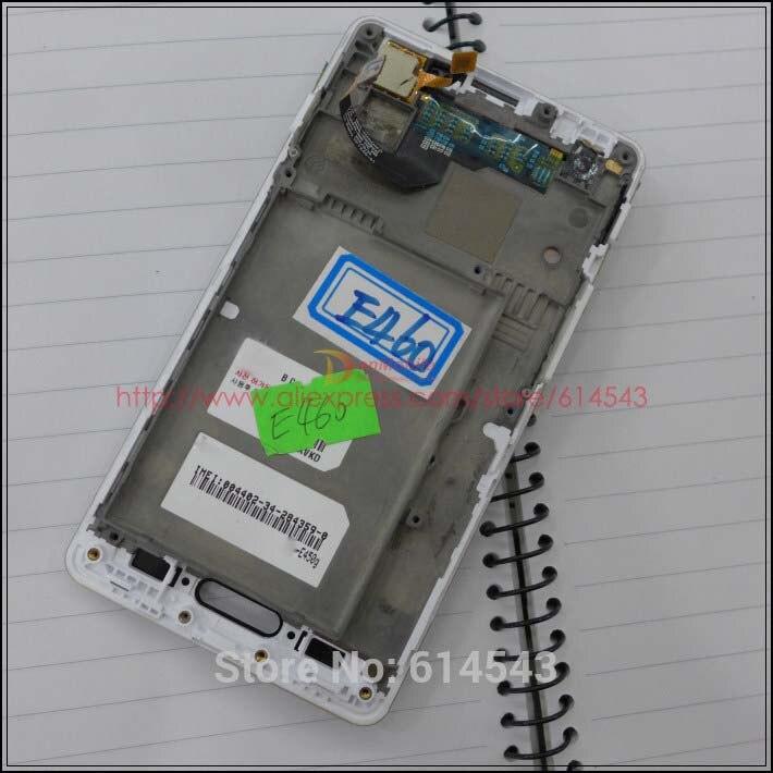 Prueba para LG Optimus L5 II Dual E450 E455 E460 pantalla LCD de montaje de digitalizador con pantalla táctil + marco blanco + pista No 1pc