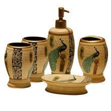 Américain paon modèle salle de bain en céramique cinq pièces ensemble gargarisme tasse Lotion bouteille porte-brosse à dents porte-savon décoration de la maison