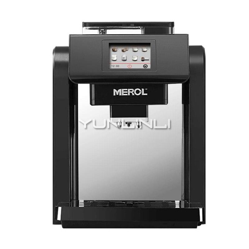 Máquina de café comercial italiano Espresso/capuchino automático 19bar hogar granos Molinillo Eléctrico leche Frother ME-717