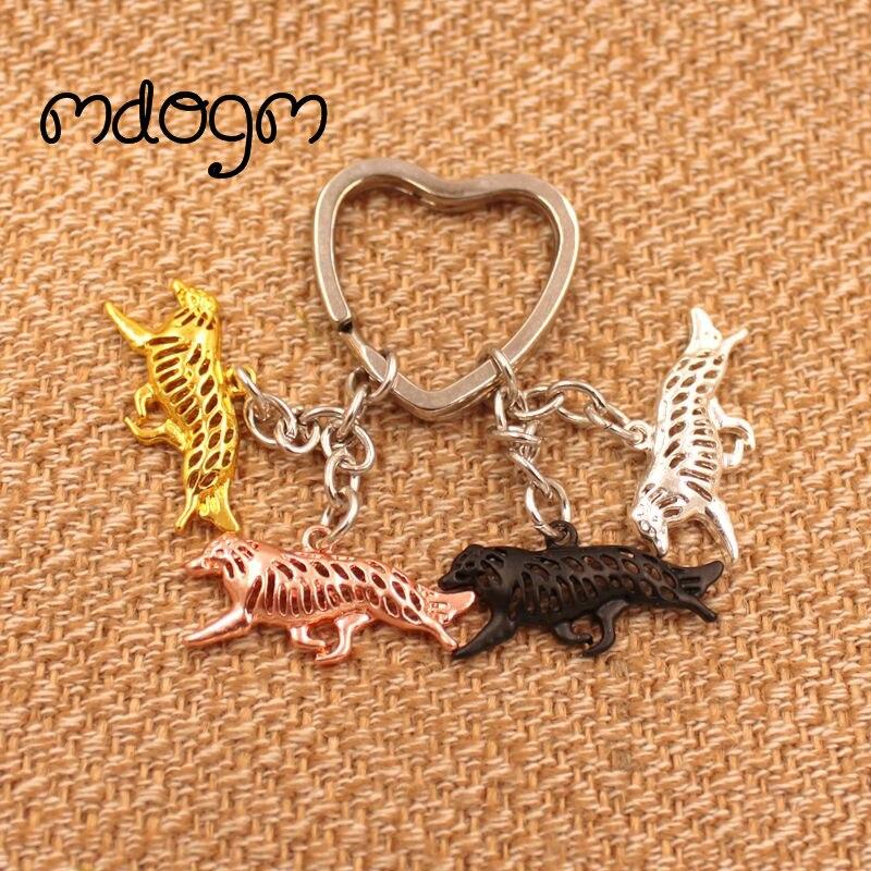 2019 mignon frontière Collie chien Animal sac à main sac à main charme métal pendentif porte-clés pour sac voiture femmes hommes porte-clés amour bijoux K036
