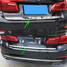Хромированная Задняя Крышка багажника, задняя дверь, накладка на дверца из нержавеющей стали для BMW 5 Series G30 2018, Стайлинг автомобиля