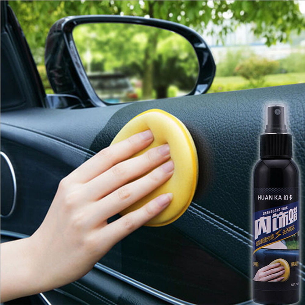 1Pc 120ML Multifunctional Waxing Cleaning Tool Corner Wipe Residual Wax Car Interior Clear Car Leather Polishing Wax