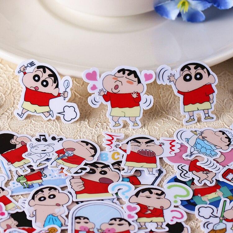 40 unidades/pacote criativo kawaii auto-feito crayon shin-chan scrapbooking adesivos/adesivos decorativos/diy artesanato álbum de fotos
