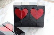 DHL 50pcs/lot 75mm x 20mm Black Heart Lipstic Lip Balm Tube Empty High Quality Plastic Lipstick Tube Lipstick Gloss Container