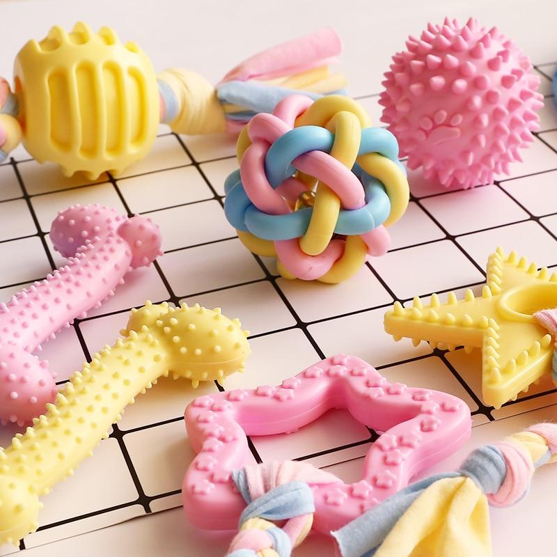 HEYPET, molares Para Perros de gato de juguete, molares Para Perros de peluche, oso de peluche, Yorkshire Terrier, herramienta de entrenamiento para perros pequeños, bonito perro rosa, amarillo, azul