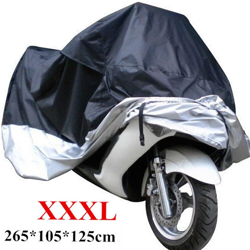 Чехол для мотоцикла защита от УФ лучей черный и серебристый пылезащитный кражи