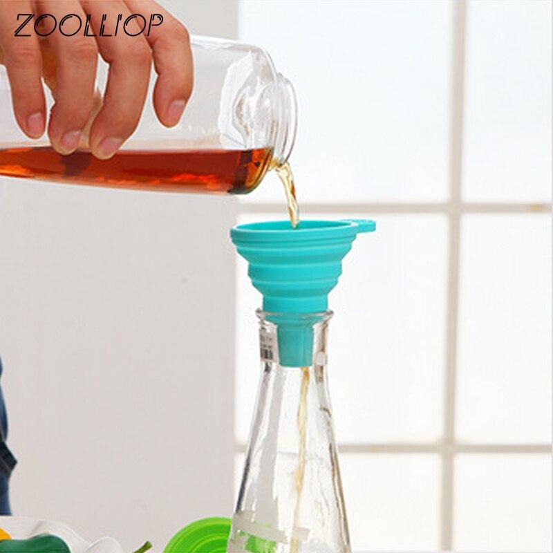 Cozinha Home Mini dobrável telescópica long neck funil Ferramentas Acessórios de Cozinha criativa casa de distribuição de líquido mini funil
