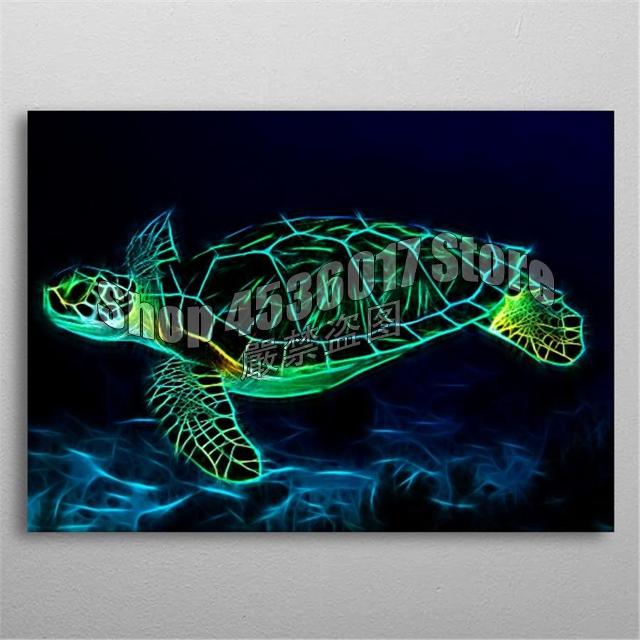 5d Diy Diamond Painting Cross Stitch Diamond Embroidery turtle fractal Diamond Mosaic Full Gifts Home Decor Needlework Posters