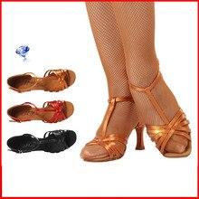 High-grade imported  Satin Dance shoes Women Soft Bottom BD 217 Ballroom Professional Sports shoes woman Shoe Latin Child Hot