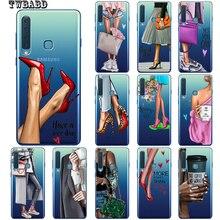 High heels Fashion Girl Flower Woman Phone Case For Cover Samsung Galaxy A50 A20 A30 A40 A10 A70 M10 M20 Shell Capa Etui Cover