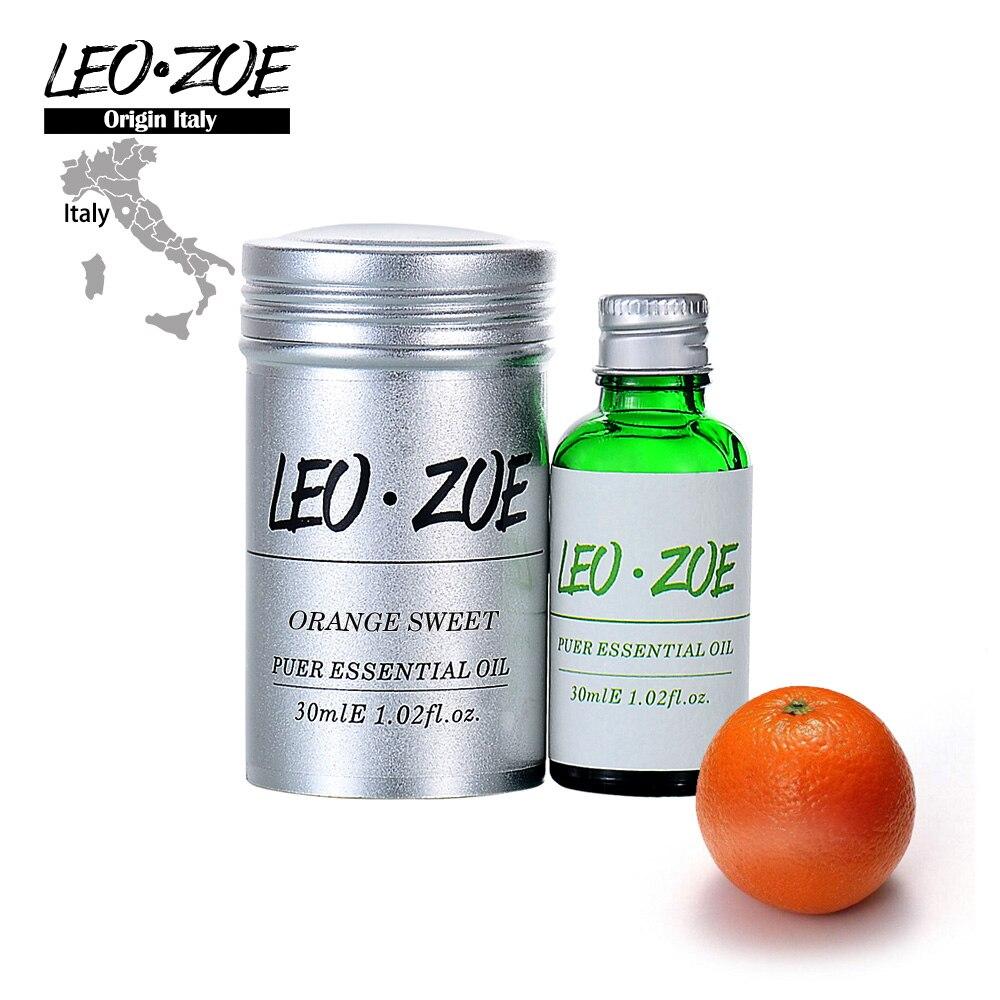 Óleo Essencial de laranja Doce Famosa Marca LEOZOE Certificado De Origem Itália Óleo de Laranja Doce 30 ml Aceites Esenciales