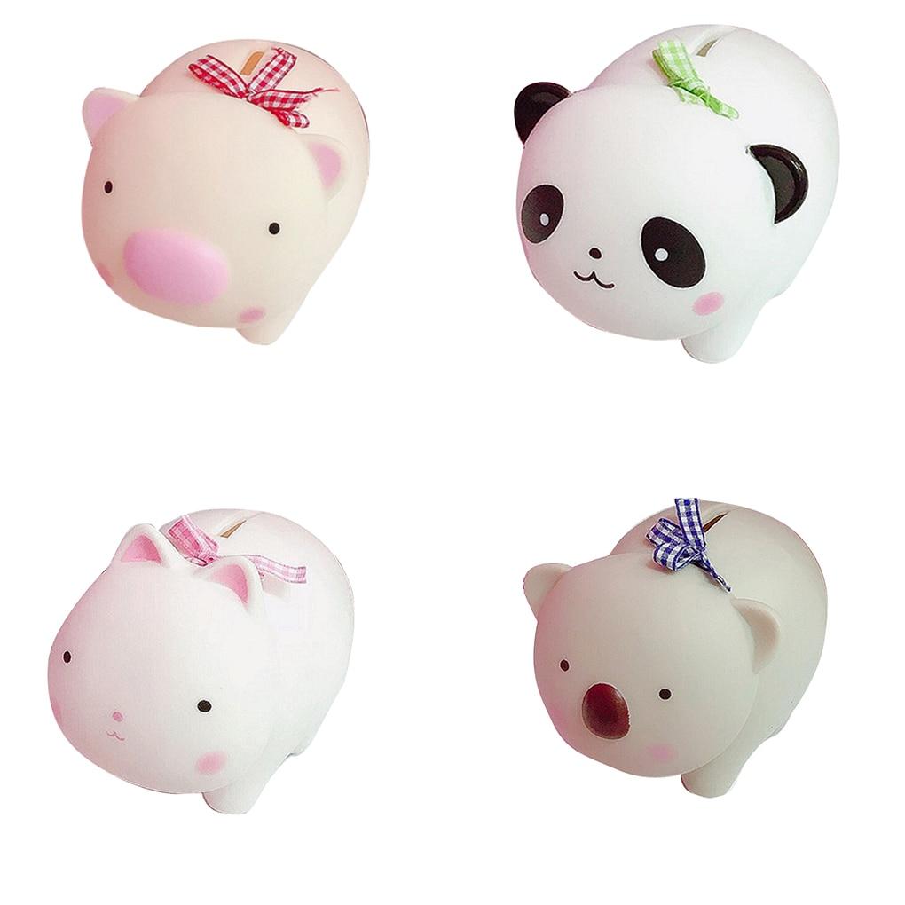 Kids Plastic Cartoon Coin Box Children Safe Keeping Deposit Storage Adorable Saving Pot Desktop Decor