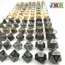 7 pièce/ensemble dés métalliques Juegos De Mesa Dados Rpg, lot De D4-D20 dés polyèdres pour jeu Rpg