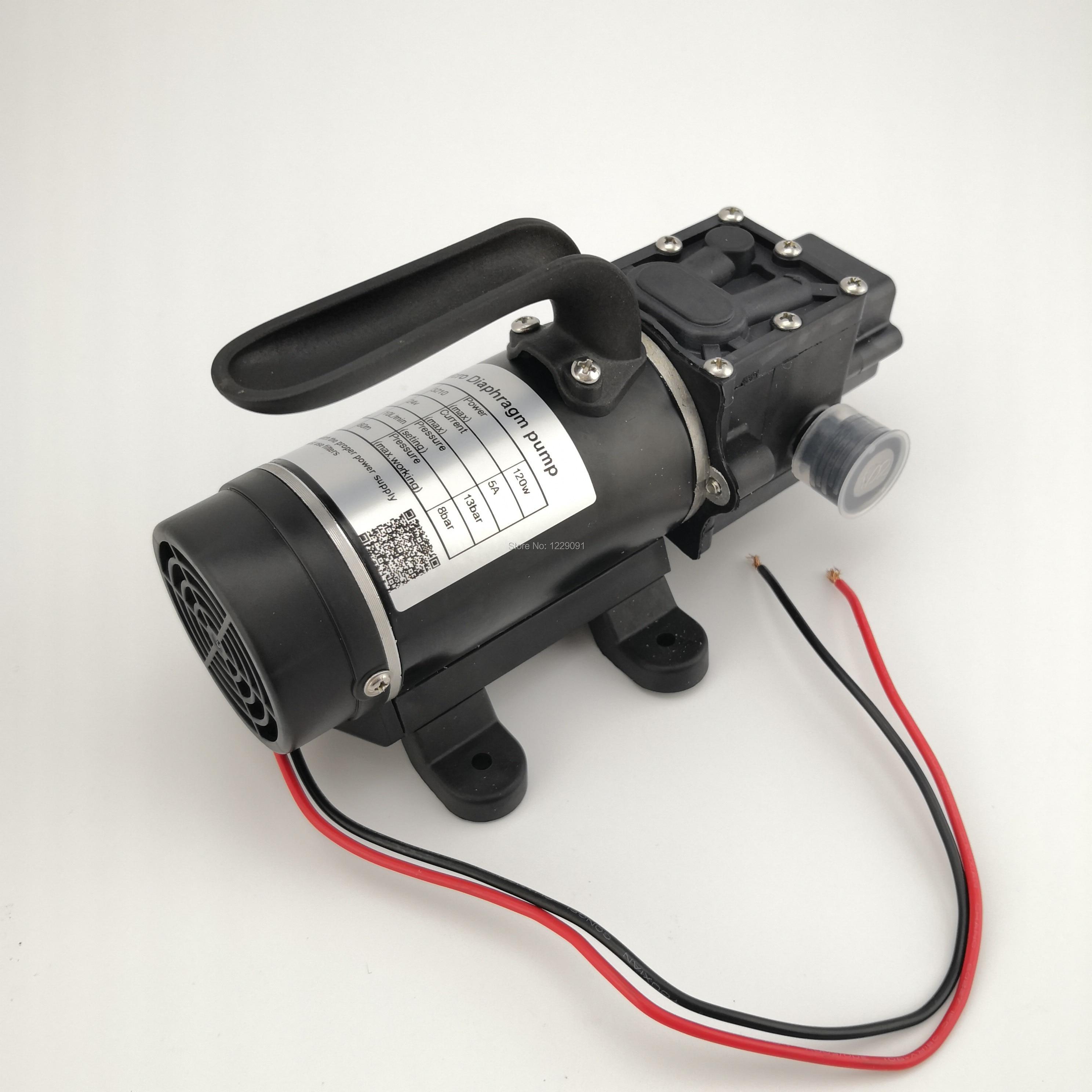 10L/min 120W electric high pressure self priming small dc Water Pump Diaphragm pump 12v 24v kamoer kvp04 12v 24v mini diaphragm vaccum pump electric air pump with low flow rate 1 1l min and low noise