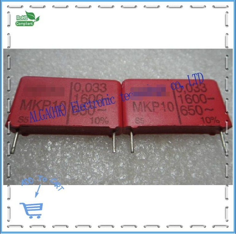 Wei ma MKP 10 condensador de película, 0.033 uf nf 33 333/1600 v P = 22,5mm