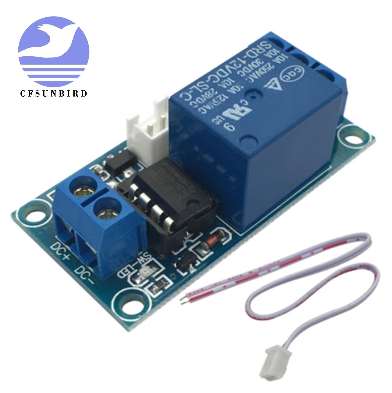 CFsunbird 1 pc 1 Channel 12 V Módulo de Relé de Travamento com Toque Bistable Interruptor de Controle MCU