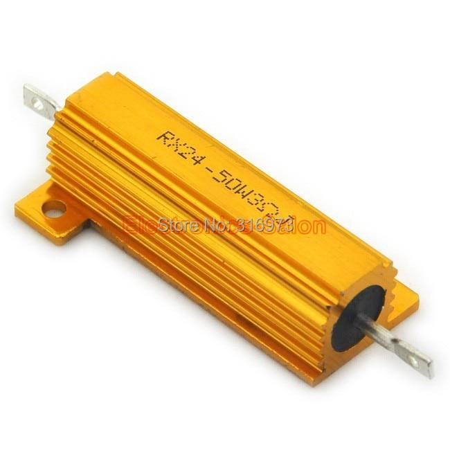 (2 pcs/lot) 3 OHM 50W Wirewound Aluminum Housed Resistor, 50 Watts.