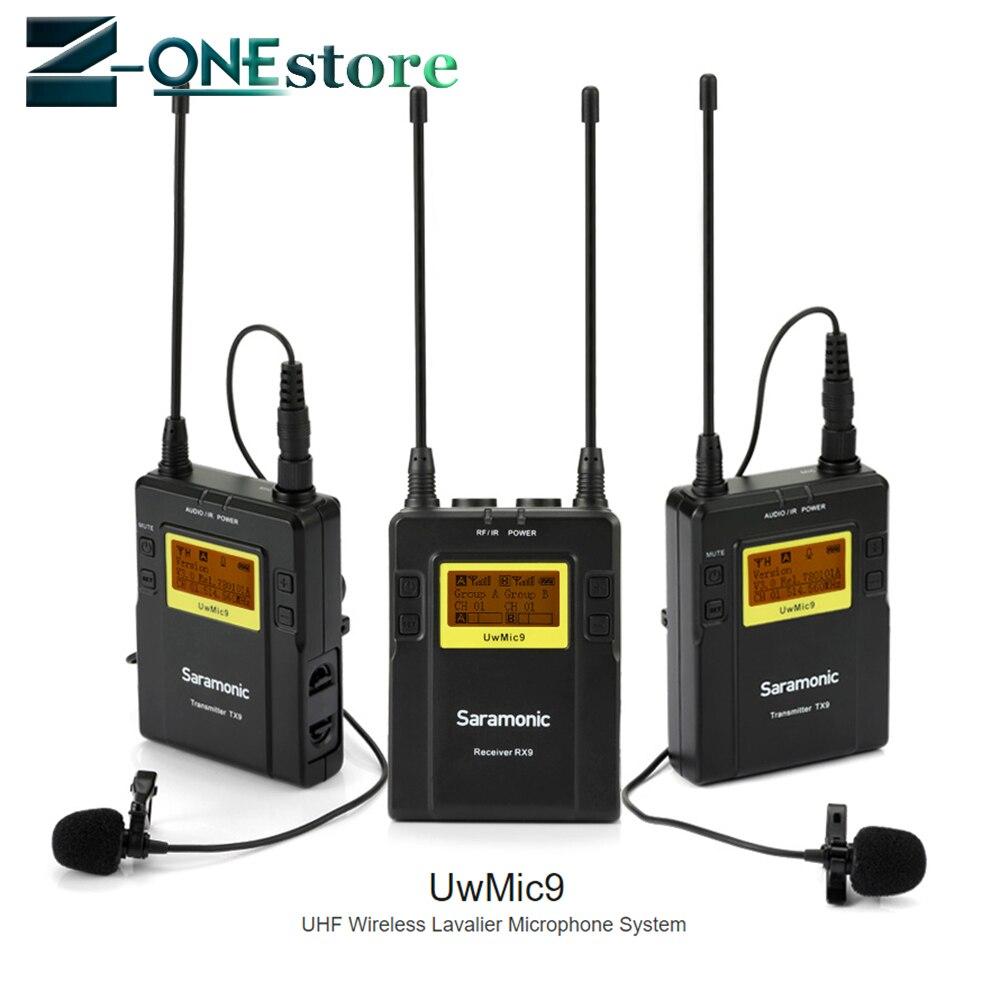 Saramonic-بث كاميرا UWMIC9 UHF ، نظام ميكروفون لاسلكي Lavalier ، أجهزة إرسال واستقبال لكاميرات DSLR وكاميرات الفيديو